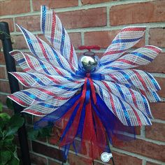 Red White and Blue Deco Mesh Angel