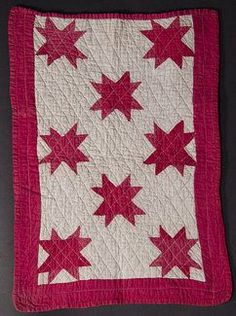 Evening Stars Doll Quilt - Circa 1890 - PA.