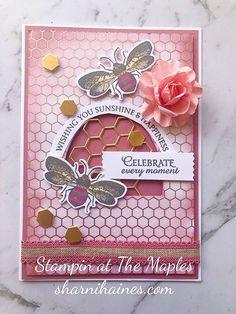 Sweet as Honey Diy Birthday, Birthday Cards, Bee Honeycomb, Honey Bee Stamps, Bee Cards, Stamping Up Cards, Scrapbook Cards, Scrapbooking, Butterfly Cards