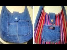 Bolsa de compras Portatil en Tela muy fácil - Tote Bag DIY Tutorial - YouTube Sewing Toys, Sewing Crafts, Jean Crafts, Diy Tote Bag, Fabric Bags, Diy Clothes, Farmer, Couture, Purses