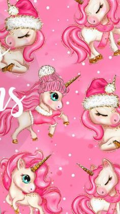 Unicorn Kuda Poni Kartun Wallpaper