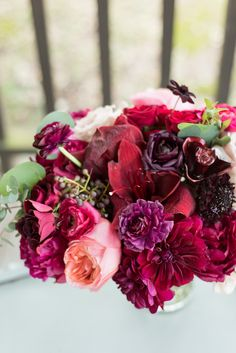 Pinks, purples, and reds create the perfect bouquet   Ian's Chapel   Whim Floral   Eric and Jen Photography   Camp Lucy   Wedding Venue   Destination Weddings   Hill Country   Weddings   Wedding Inspiration  