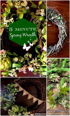 5 Minute Spring Wreath