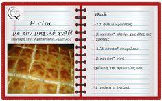 Θα σε κάνω Μαγείρισσα!: Η πίτα...με τον μαγικό χυλό! Ethnic Recipes, Blog, Drinks, Drinking, Beverages, Drink, Beverage
