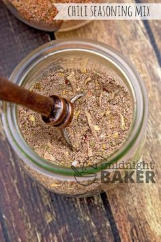 Chili Seasoning Mix   The Midnight Baker   Use this chili seasoning mix to make the most awesome chili ever! Can be made mild to hot!