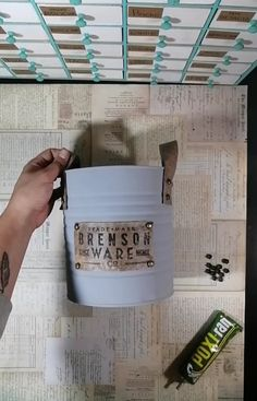 Diy Bottle, Shabby Chic Furniture, Ideas Para, Decoupage, Cool Stuff, Creative, Jars, Home, Painted Tin Cans