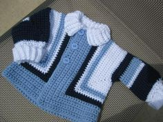 Baby jaket Crochet For Boys, Crochet Baby, Baby Sweaters, Crochet Sweaters, My Children, Kids, Crochet Jacket, Baby Items, Baby Boy