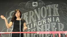 Dana Tanamachi, a Brooklyn chalk artist spruces up the Evernote headquarters with wall-sized art.