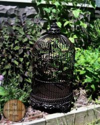 Wonderful World of Spray Paint- Bird Cage Makeover- from TheRefurbishedHome