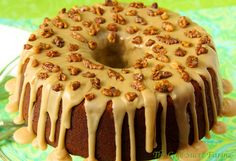 Pumpkin Buttermilk Pound Cake w/ Caramel Icing  - easy to put together and incredibly delicious. A perfect way to celebrate the season!