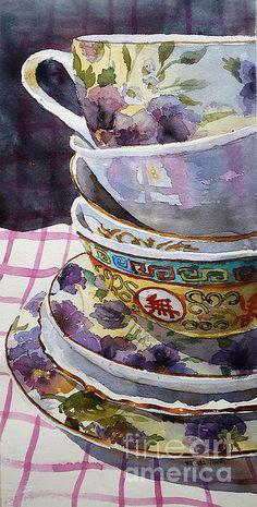 """Teatime"" affiche de Marisa Gabetta"