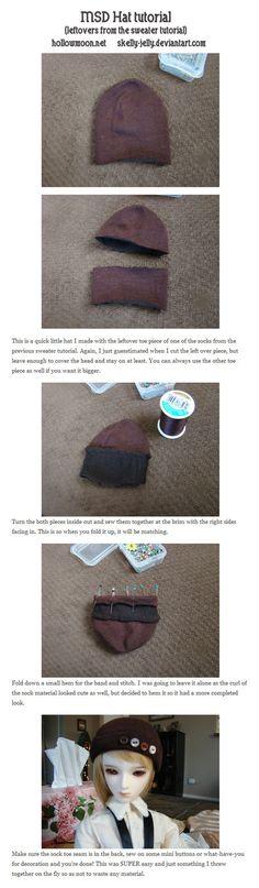 BJD Hat tutorial by skelly-jelly on deviantART