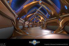 ArtStation - Starcraft II Legacy of the Void - Hallway - LowPoly, Gaëtan Montaudouin
