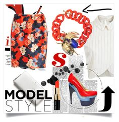 """""""Summer style!!"""" by salihovic-nihad ❤ liked on Polyvore featuring Miss Selfridge, Versace, J.Crew, Dsquared2, Kate Spade, Bobbi Brown Cosmetics, women's clothing, women's fashion, women and female"""