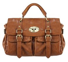 "Melie Bianco ""Maurissa"" Carry All Messenger Bag in brown (Mulberry Alexa knockoff)"