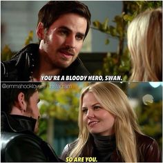 "Just let me die. The way he says ""bloody"" makes me crazy T.T Captain Swan IS LIFE!! Credits to @ emmahooklovers on instagram!"