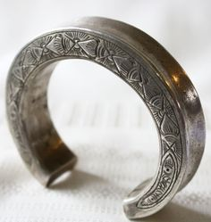 Antique Tribal Silver Bracelet from the Shan of Burma at www.sabaidesignsgallery.com