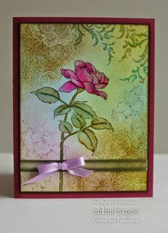 Corine's Gallery: Single Rose Stem (IO stamps) for Colourstock blog