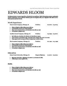 CV - Chronological Resume by Hloom.com