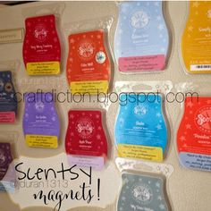 Craftdiction: Scentsy Magnets. A fun way to give customer thank you gifts or host gifts!