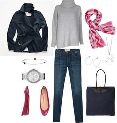 """""""Pink Accents"""" by bluehydrangea on Polyvore"""