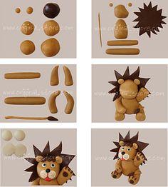 lion en pâte à sucre