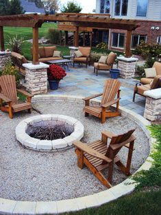 Modern Fire Pit Ideas for Backyard – Home & Garden: Inspiring Interior, Outdoo. - Modern Fire Pit Ideas for Backyard – Home & Garden: Inspiring Interior, Outdoor and DIY Ideas - Backyard Seating, Backyard Patio Designs, Fire Pit Backyard, Backyard Landscaping, Diy Fire Pit, Backyard Pergola, Fire Pit Landscaping Ideas, Garden Fire Pit, Outdoor Pergola
