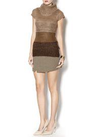 Brown Cowl Neck Short - Front full body