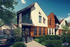Блокированная застройка: архитектура, зd визуализация, 2 эт | 6м, жилье, минимализм, 200 - 300 м2, фасад - штукатурка, фасад - дерево, таунхаус, архитектура #architecture #3dvisualization #2fl_6m #housing #minimalism #200_300m2 #facade_plaster #facade_wood #townhouse #architecture arXip.com