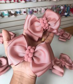 Birthday Felt Bows For Girls Toddler Hair Accessories Big Felt Bow With Flowers Making Hair Bows, Diy Hair Bows, Baby Girl Hair Accessories, Felt Bows, Boutique Hair Bows, Diy Headband, Girls Bows, Baby Bows, How To Make Bows