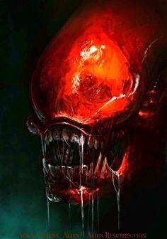 Alien Vs Predator, Predator Movie, Predator Alien, Arte Alien, Alien Art, Hr Giger Alien, Saga Alien, Alien Photos, Giger Art