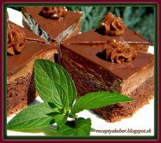 Mamka varí  ♥                     : ČOKOLÁDOVÉ TROJUHOLNÍČKY Pudding, Cake, Food, Pie Cake, Pastel, Meal, Eten, Puddings, Cakes