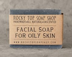 Facial Soap for Oily Skin - All Natural Soap, Handmade Soap, Unscented Soap, Cold Process Soap, Oily Skin Soap, Facial Soap, Vegan Soap, by RockyTopSoapShop on Etsy https://www.etsy.com/au/listing/96950865/facial-soap-for-oily-skin-all-natural
