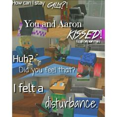 Lol Laurence felt the disturbance of Aphmau with Aaron... SK Senses!!