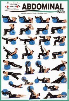 También puedes comprar una pelota de pilates para poder ejercitar tus abdominales donde quieras. | 17 Guías visuales de ejercicio que te motivarán a ponerte en forma