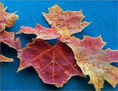 making fabric leaves - Google Search