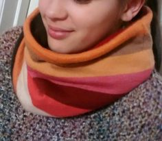 Warm Colors, Cozy Cashmere Cowl, cowl scarf, etsy recycled cashmere, neckwarmer, colorful, womens cashmere scarf, womens - pinned by pin4etsy.com