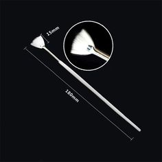 1 Pc Shade Gradient Fan Brush Pen White Handle Brush Manicure Nail Art Brush