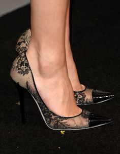 The Red Carpet Shoes That Seriously Wowed Us This Year: Selena Gomez showed off her sophisticated taste in footwear, wearing lacy heels.