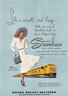 Vintage train advertisement