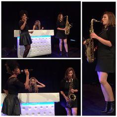 Gig pics: Last night at Ahoy, Rotterdam! DJ Miss Faith,  Mavis Acquah (vocals) and Susanne Alt (tenor sax) Thanks to Dames Draaien Door for the booking. http://www.susannealt.com/weblog/gig-pics-ahoy-rotterdam/ #damesdraaiendoor #ladiesinthehouse #ahoy #tuesday