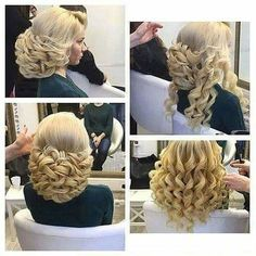 Image about girl in coiffure by nayanka_chrls Fancy Hairstyles, Braided Hairstyles, Wedding Hairstyles, Wedding Updo, Bridal Hairstyle, Hairstyles 2018, Hair Creations, Pinterest Hair, Hair Dos