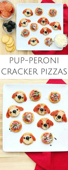 AD Ritz Crackers Pup-Peroni Pizzas. Cute and easy snack or dinner ideas for kids. #kidsnack #kidsfood #kidsdinner
