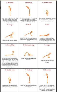 Jump-start your day with 12 Sun Salutation Yoga Poses - http://ehealthcove.com/body-by-vi-challenge/jumpstart-your-day-sun-salutation-yoga/#