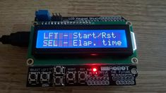 If you are looking for a very simple Arduino project to learn more about Arduino coding, this project is perfect for you. Conor M has built an Arduino stopwatch Arduino Lcd Shield, Lcd Keypad Shield, Diy Electronics, Electronics Projects, Simple Arduino Projects, Electronic Gifts For Men, Electronic Workbench, Craft Shop, Coding