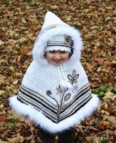 baby poncho winter crochet - Google zoeken