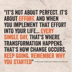 het gaat om de inzet, niet om dat het perfect is.