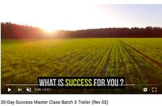 30 Day Success Masterclass Batch 3 Trailer What Is Success, 30 Day, Master Class, Outdoor, Outdoors, Outdoor Games, The Great Outdoors