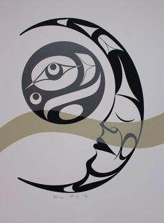 Affinity - Limited Edition Serigraph by Francis Dick Native Canadian, Canadian Art, Pole Art, Native American Symbols, Haida Art, Inuit Art, Native Design, Coastal Art, Indigenous Art