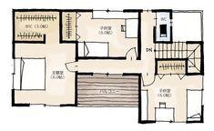 ごたつきがちな洗面脱衣室周りの家族の動線をスッキリと!脱衣室と洗面を分けた間取り | 2階建・33坪・3LDK | とりどりまどり Diy And Crafts, Floor Plans, How To Plan, House, Home Decor, Plane, Home, Haus, Airplanes